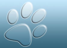 Abstract paw print royalty free illustration