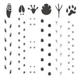 Abstract Paw Print. Illustration EPS Stock Photography