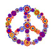 Abstract peace flower symbol Stock Images