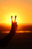 Abstract peace symbol silhouette Stock Photo