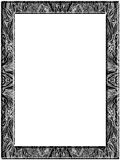 Abstract pen drawing frame. Abstract drawing of leaves, whirls, spots, curved lines. Black and white. Frame Royalty Free Stock Photo