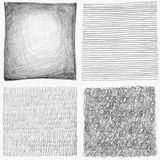 Abstract pencil scribbles background collection. Royalty Free Stock Photography