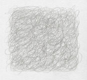Abstract pencil scribbles background. Stock Image