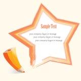 Abstract pencil Star Royalty Free Stock Photos