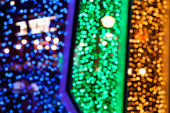 Abstract Pentagon bokeh background Stock Images
