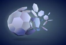 Abstract pentagon sphere. 3d ball vector illustration Stock Photo