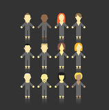 Abstract people. Set of men and women abstract figures Stock Image