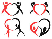 Abstract people heart symbol Stock Image