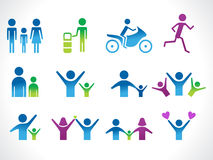 Abstract people icon Stock Photo