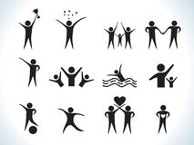 Abstract people icon Royalty Free Stock Photos