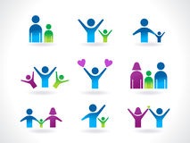 Abstract people icon template royalty free illustration