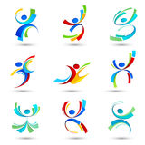 Abstract people icons Stock Photography