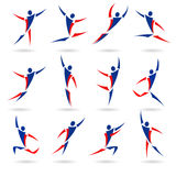 Abstract people icons collection. Body vector illustration