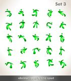 Abstract people icons and symbols Stock Photos