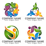 Abstract People Logo for Environment Modern Concept Royalty Free Stock Image