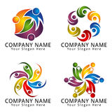 Abstract People Logo for Environment Modern Concept Stock Photography
