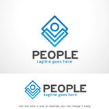 Abstract People Logo Template Design Vector, Emblem, Design Concept, Creative Symbol, Icon. This design suitable for logo or icon. Color and text can be changed stock illustration