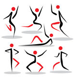 Abstract people poses stock illustration