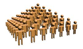 Abstract people in pyramid shape. Abstract 3d rendered people in pyramid shape Stock Images