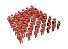 Abstract people in pyramid shape. Illustration Stock Photos