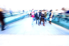 Abstract people in rush hour Stock Photography