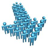 Abstract people in shape of arrow. Group of abstract people in shape of arrow illustration Stock Images