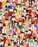 Abstract people standing nearby royalty free illustration