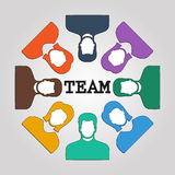Abstract people team background design. Royalty Free Stock Image