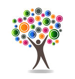 Abstract people tree logo Royalty Free Stock Photo