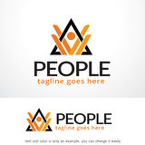 Abstract People and Triangle Logo Template Design Vector, Emblem, Design Concept, Creative Symbol, Icon. This design suitable for logo or icon. Color and text stock illustration