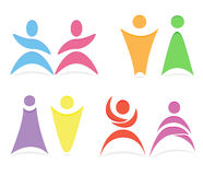 Abstract people vector logo template. Stock Image