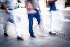 Abstract people walking Stock Images