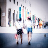 Abstract people walking Royalty Free Stock Image