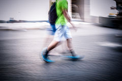 Abstract people walking Royalty Free Stock Photo