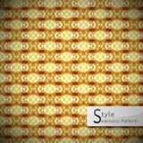 Abstract perforate mesh Golden vintage geometric seamless patter Royalty Free Stock Images