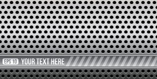 Abstract perforated metal with space for your text. This is file of EPS10 format Royalty Free Illustration