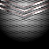Abstract perforated metallic background with Stock Photography