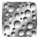Abstract perforated seamless pattern background. Abstract perforated 3D seamless pattern background with shadows Stock Images