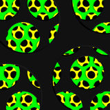 Abstract perforated texture, Black, Green and Yellow Graphic design Stock Photography
