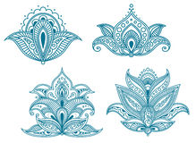 Abstract persian floral royalty free illustration
