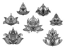 Abstract persian and indian flower royalty free illustration