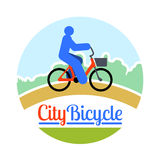 Abstract person bicycle ride Stock Photography