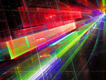Abstract perspectief digitaal geproduceerd beeld als achtergrond Stock Afbeeldingen