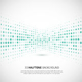 Abstract perspective background with halftone Royalty Free Stock Photo