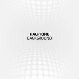 Abstract perspective background with halftone Stock Image