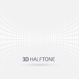 Abstract perspective background with halftone Stock Photography