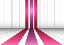 Abstract perspective background with three lines Royalty Free Stock Images