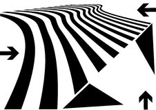 Abstract perspective design. With a zebra elements Stock Photography