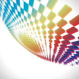 Abstract perspective square element background Stock Images