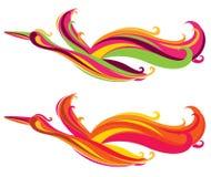 Abstract phoenix pattern stock illustration
